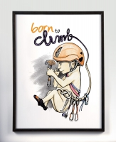 "Grafika ścienna ""Born to climb"""