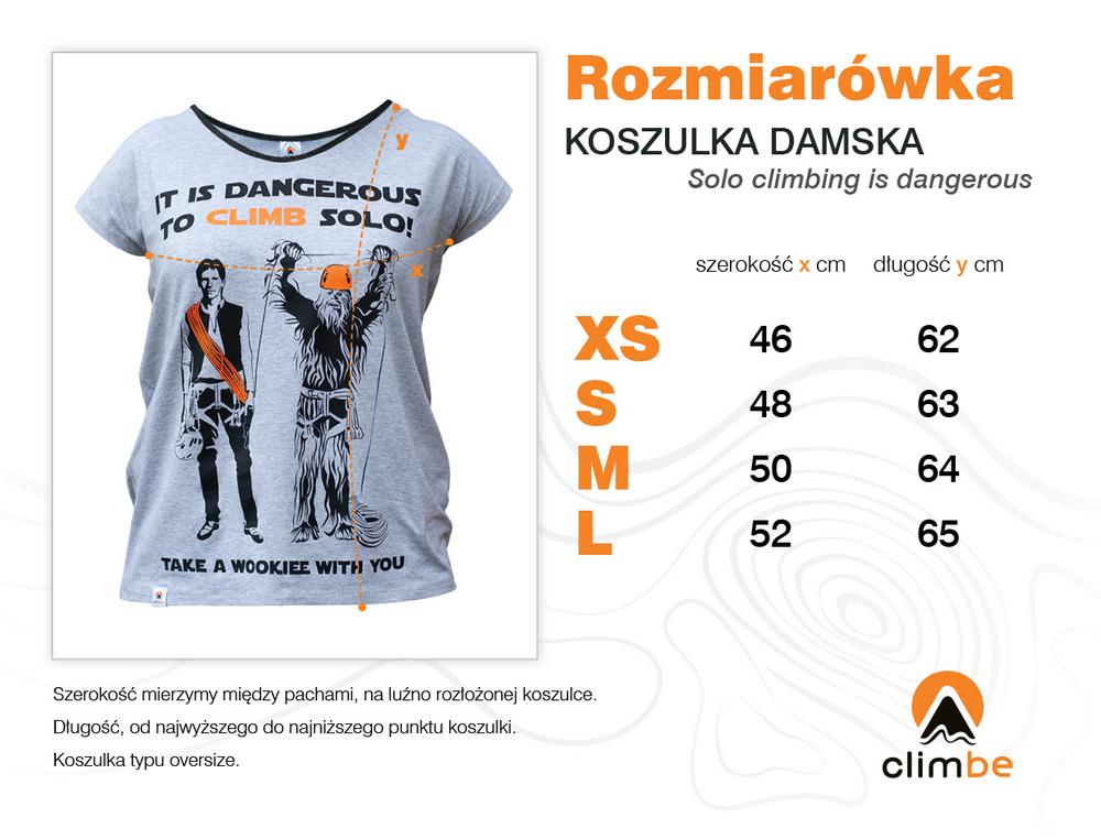Rozmiarówka Climbe - damska koszulka wspinaczkowa z nadrukiem Anna Purna