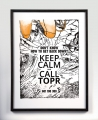 Grafika ścienna Keep Calm And Call TOPR